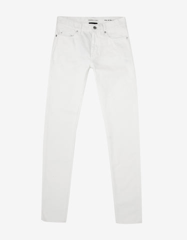 Saint Laurent White D02 Slim Denim Jeans