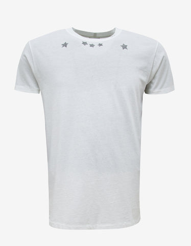 Saint Laurent Off-White Star Print T-Shirt
