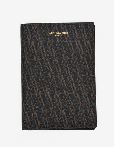 Saint Laurent Monogram Print Passport Holder
