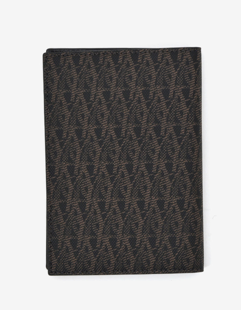 Monogram Print Passport Holder