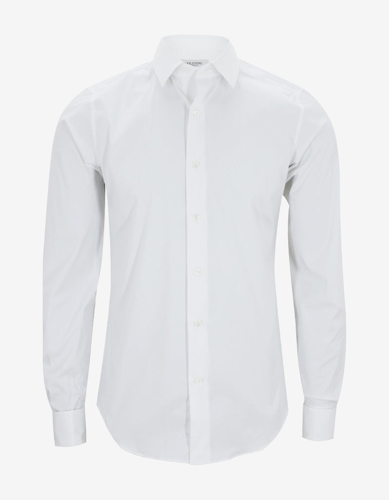 White Fitted Cufflink Shirt