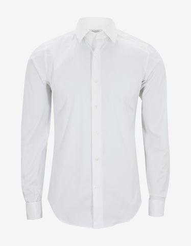 Valentino White Fitted Cufflink Shirt