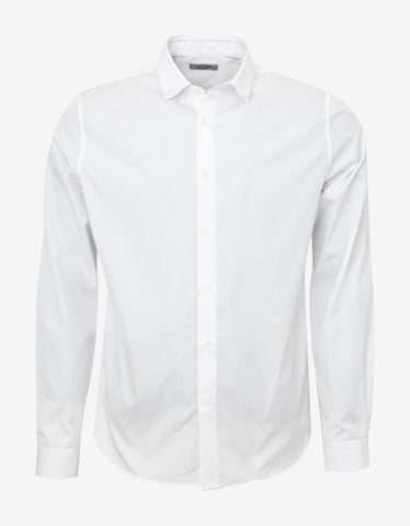 Valentino White Shirt with Studded Collar