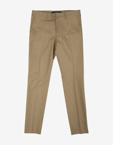 Valentino Beige Trousers with Contrast Trim