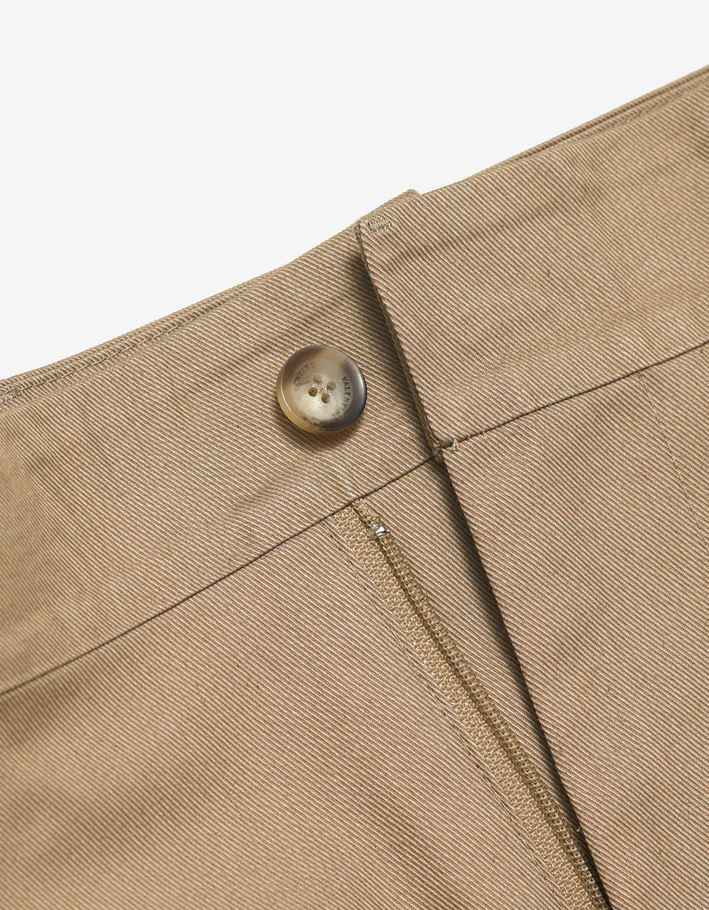 Beige Trousers with Contrast Trim