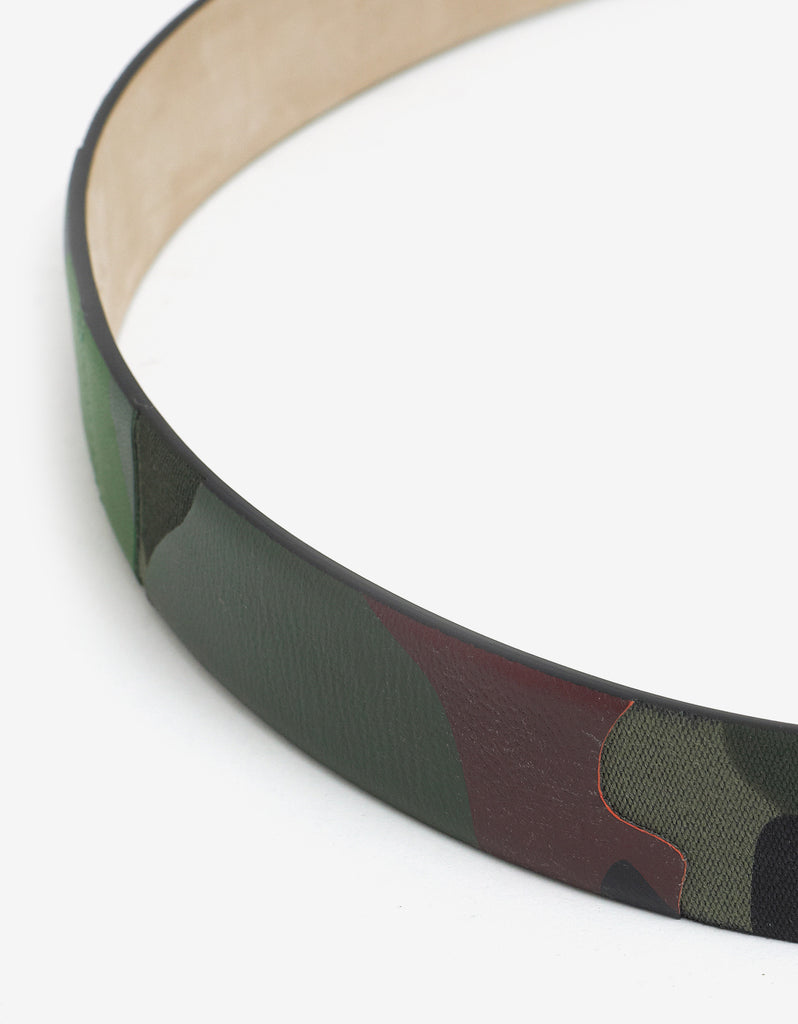 Camouflage Leather & Canvas Belt