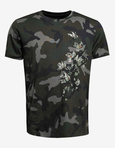 Valentino Camouflage & Plants Print T-Shirt
