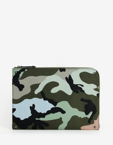 Valentino Camouflage Document Holder