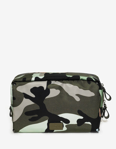Valentino Camouflage Print Toiletry Bag