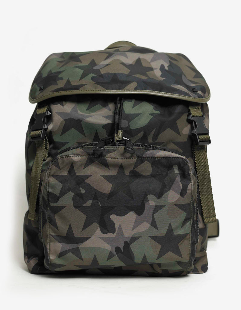 Camustars Print Canvas Backpack