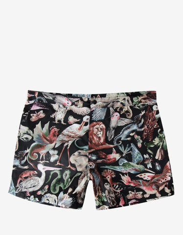 Valentino Fantastic Animals Print Swim Shorts