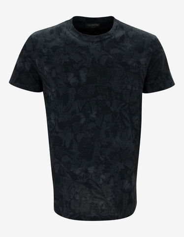 Valentino Black Camubutterfly T-Shirt