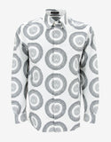 White Medusa Head Print Shirt