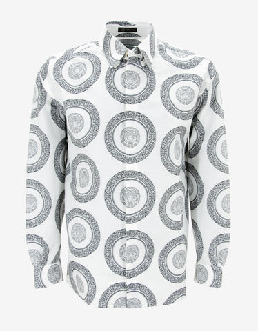 Versace White Medusa Head Print Shirt