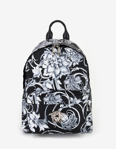 Versace Monochrome Watercolour Baroque Backpack