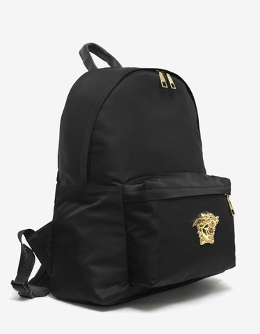Versace Black Medusa Head Nylon Backpack