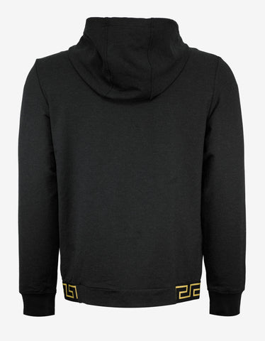 Versace Gym Dark Grey Greek Pattern Hoodie