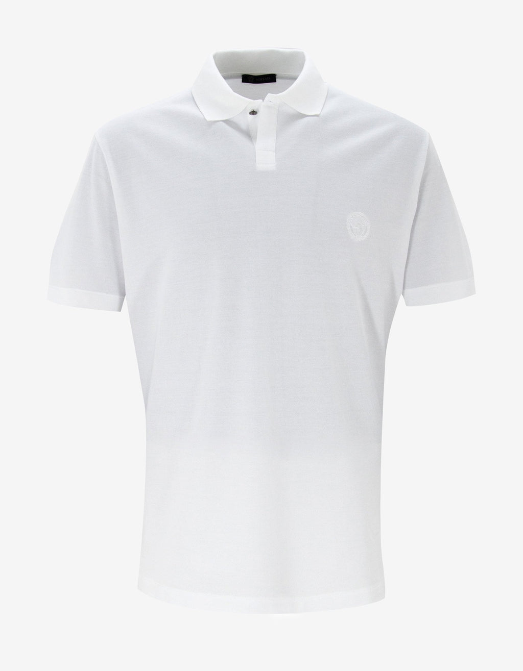 White Medusa Crest Polo T-Shirt -