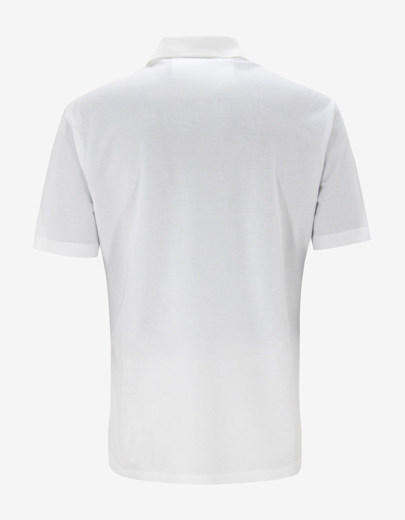 White Medusa Crest Polo T-Shirt
