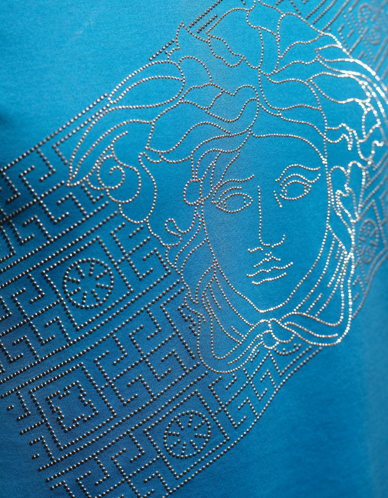 Blue Sequin Medusa T-Shirt