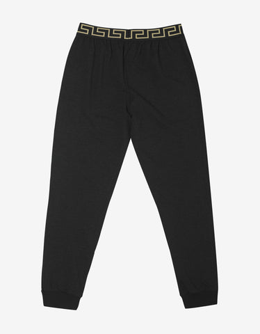 Versace Gym Dark Grey Greek Pattern Sweat Pants