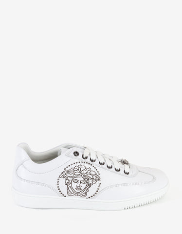 Versace White Medusa Perforated Trainers
