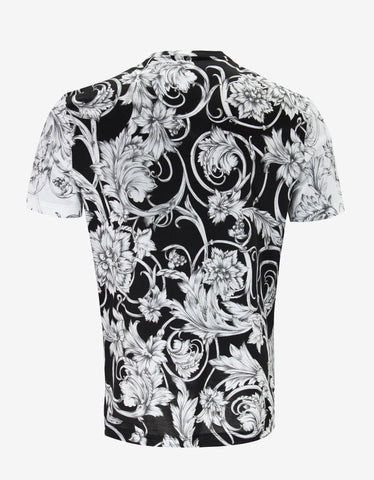 Versace Monochrome Watercolour Baroque T-Shirt