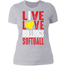 Load image into Gallery viewer, Lady Bulldogs Live/Love Ladies' Boyfriend T-Shirt