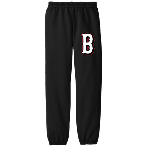 Lady Bulldogs B Logo (White) Youth Fleece Pants