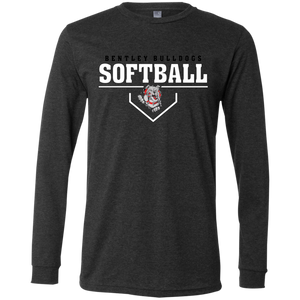 Lady Bulldogs Plate Logo Men's Jersey LS T-Shirt