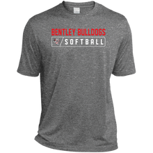 Load image into Gallery viewer, Lady Bulldogs Bar Logo (Red) Tall Heather Dri-Fit Moisture-Wicking T-Shirt
