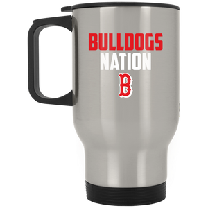 Bulldogs Nation  Silver Stainless Travel Mug
