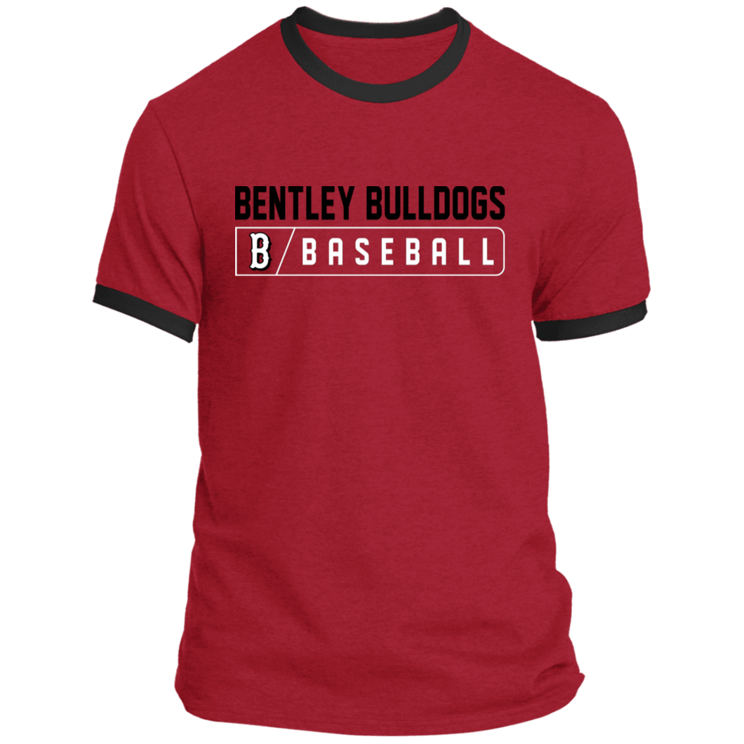 Bulldog Bar Logo (black)  Ringer Tee