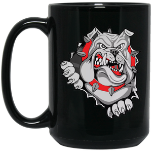 Lady Bulldogs 15 oz. Black Mug