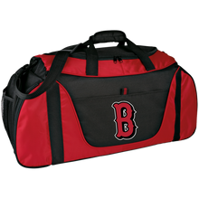 Load image into Gallery viewer, Lady Bulldogs B Logo (Red) Medium Color Block Gear Bag