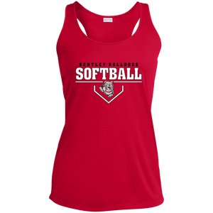 Lady Bulldogs Plate Logo Ladies' Racerback Moisture Wicking Tank