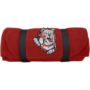 Lady Bulldogs Fleece Blanket