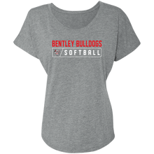 Load image into Gallery viewer, Lady Bulldogs Bar Logo (Red) Ladies' Triblend Dolman Sleeve