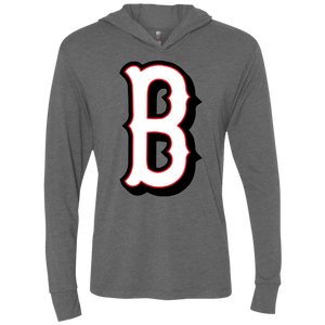 B Logo (gray) Triblend LS Hooded T-Shirt