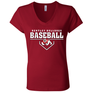 Plate Logo Ladies' Jersey V-Neck T-Shirt