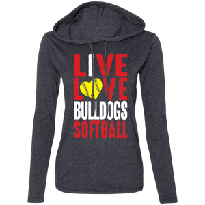 Lady Bulldogs Live/Love Ladies' LS T-Shirt Hoodie