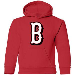B Logo (white/red) Youth Pullover Hoodie