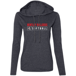 Lady Bulldogs Bar Logo (Red) Ladies' LS T-Shirt Hoodie