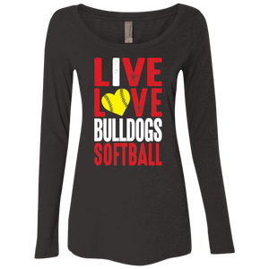 Lady Bulldogs Live/Love Ladies' Triblend LS Scoop