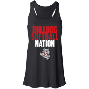 Lady Bulldogs Nation Flowy Racerback Tank