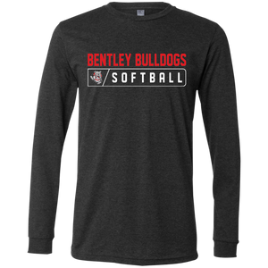 Lady Bulldogs Bar Logo (Red) Men's Jersey LS T-Shirt
