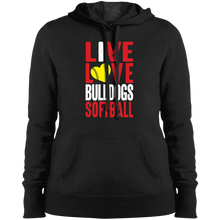 Load image into Gallery viewer, Lady Bulldogs Live/Love Ladies' Pullover Hooded Sweatshirt