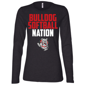 Lady Bulldogs Nation Ladies' Jersey LS Missy Fit