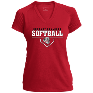 Lady Bulldogs Plate Logo Performance T-Shirt