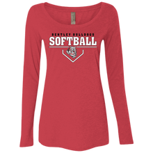 Load image into Gallery viewer, Lady Bulldogs Plate Logo Ladies' Triblend LS Scoop